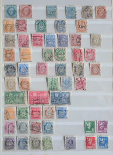 World - Batch with mainly stamps from Norway and USA and various postal items and postal stationaries