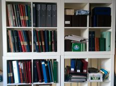 World - Collection of 113 items in stock books, albums and miscellaneous