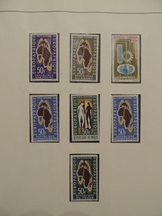 Europe-Africa 1963/1976 - Collection of stamps and sheetlets in a Lindner album