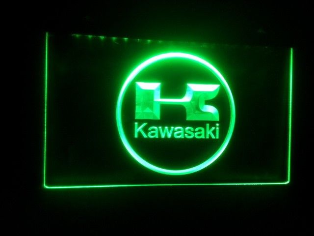plaque lumineuse kawasaki led n on couleur verte catawiki. Black Bedroom Furniture Sets. Home Design Ideas