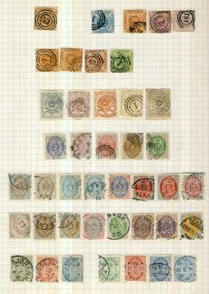Denmark and dependencies 1851/1935 - Collection on 12 homemade pages