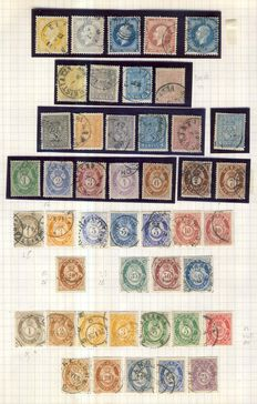 Norway 1856/1942 - Collection on 5 leaves