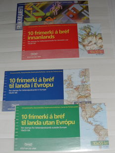 Iceland 1990/2013 - Collection of stamp booklets and stamps in stock book