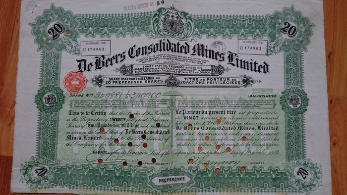 de beers consolidated mine ltd De beers consolidated mines was formed in 1888 by the merger of the companies of barney barnato and cecil rhodes, by which time the company was the sole owner of all diamond mining operations in the country.