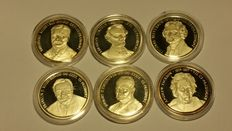 USA - Collection of 6 medals 1991/1993 'Presidents' - silver