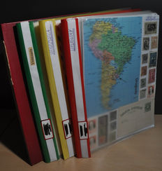 Central and South America - Collection in binders and stock books including Venezuela and Uruguay