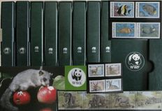 WWF - Topical collection in 8 albums with stamps and FDCs