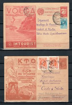 Russia, Soviet Union 1900/1930 – Selection of postal items, postcards and cover fragments