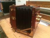 Bekijk onze Rare high-quality English tailboard STEREO camera Gandolfi with Dallmeyer lenses, approx. 1885