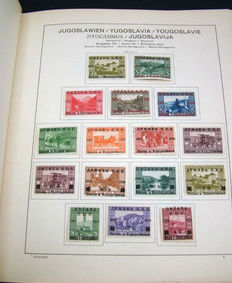 Czechoslovakia and Yugoslavia - Batch in stock book and collection in preprint album
