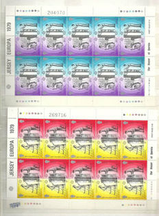 World - Collection of 300 miniature sheets, sheetlets and stamp booklets in stock book