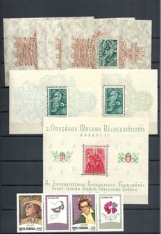 World - Collection of 260 miniature sheets and sheetlets