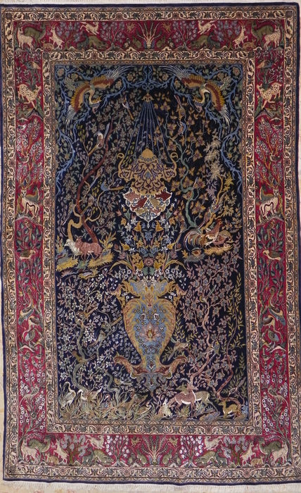 Alfombra isfahan persa extra fina catawiki for Alfombras persas