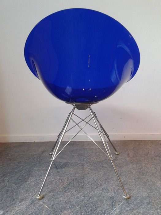Philippe starck eros 39 chairs by kartell 3 39 blue transparent lot 1 catawiki - Stoelen philippe starck ...