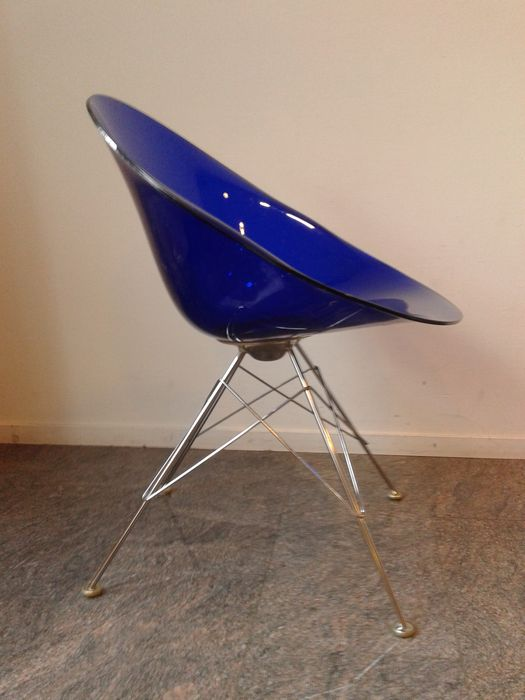 Philippe starck eros 39 chairs by kartell 3 39 blue for Starck stoelen
