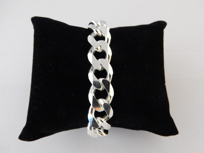 bracelet mailles gourmette en argent massif pour homme. Black Bedroom Furniture Sets. Home Design Ideas