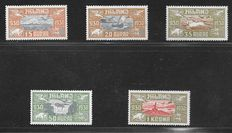Iceland 1930 - Airmail stamps Yvert 4/8