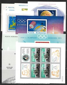 Romania - Selection of 9 different imperforate miniature sheets