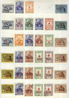 Portugal and colonies 1900/1940 - Collection on 12 leaves with Back of the Book among others