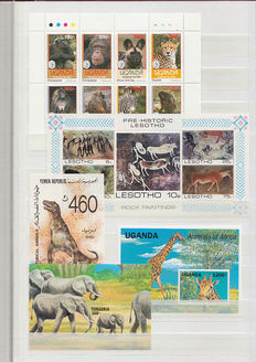 Animals - Topical collection of miniature sheets and sheetlets