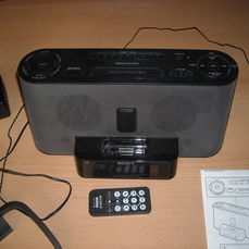 Sony ICF-C1IPMK2 Speaker System and Clock Radio with iPod Dock (Black)