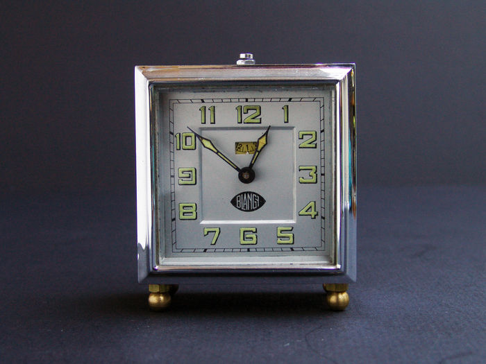 Blangy art deco alarm clock catawiki Art deco alarm clocks