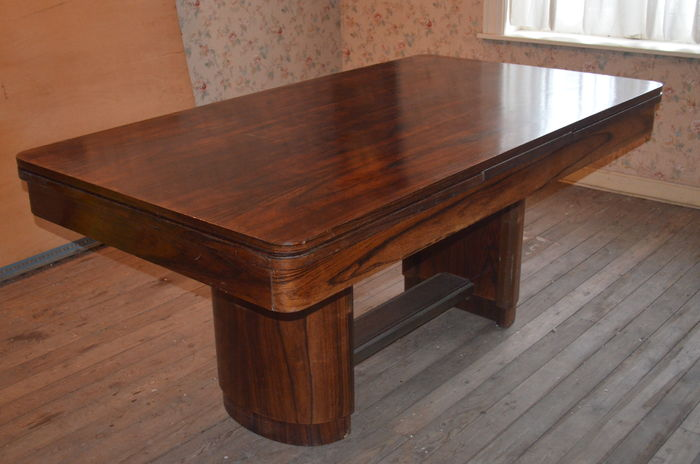 Art deco dining room table with 2 extension pieces catawiki - Art deco dining room table ...