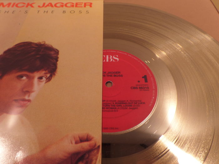 Mick Jagger She S The Boss 12 Quot German Golden Plated