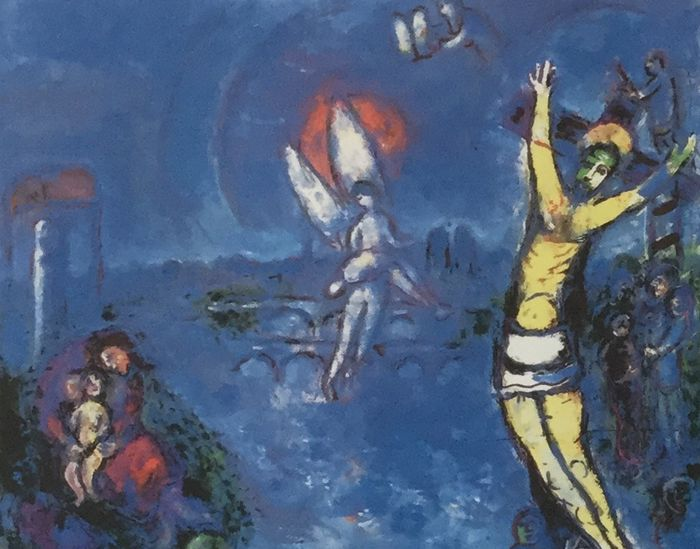 Marc Chagall (taken from) - The crucifixion - Catawiki Chagall Crucifixion Paintings