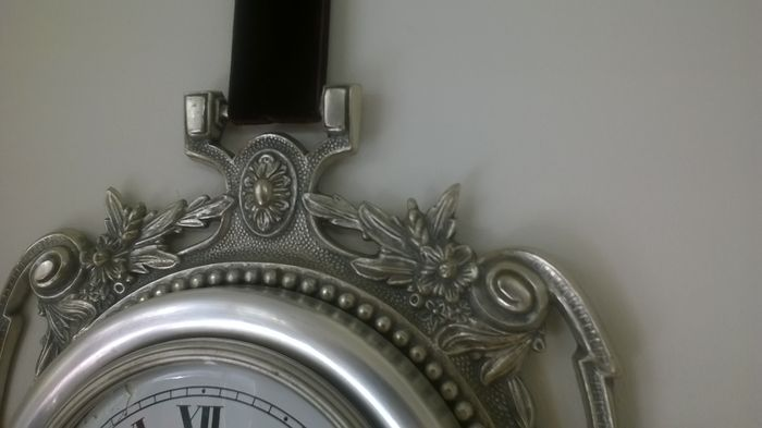 Wall clock white metal alloy made in spain catawiki