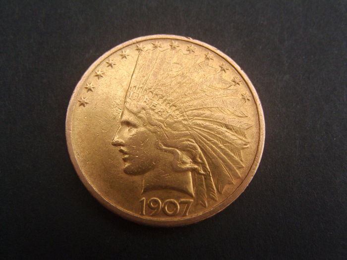 647896034d660 1907 indian head 10 dollar gold coin - Bar du coin st-jerome quote