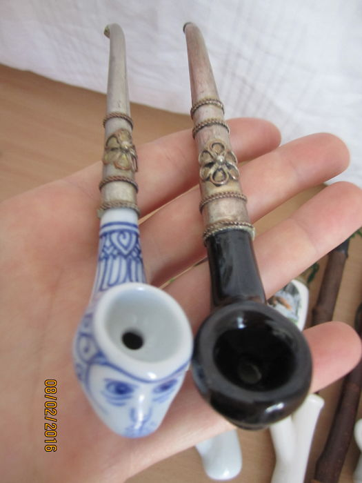 Decorative Clay Pipe : Porcelain decorative pipes catawiki