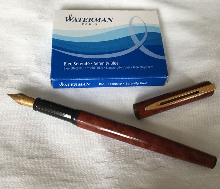 Waterman Red Marble Fountain Pen Catawiki
