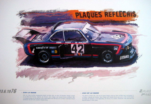 bmw alpina csl 24h le mans 1976 affiche orgineel alpina catawiki. Black Bedroom Furniture Sets. Home Design Ideas
