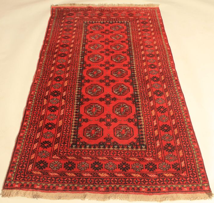Beautiful Old Orient Rug Afghan Mauri, Around 1980, Wool