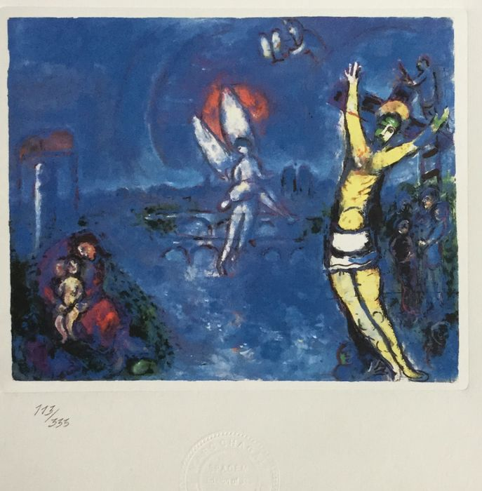 (After) Marc Chagall - La crucifixion - Catawiki Marc Chagall Crucifixion