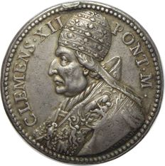 Italy, Papal State - Medal Clement XII signed Hamerani - silver