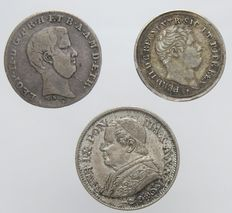 Italy - Lot of 6 coins 1838/1927 (incl. silver and rarity)