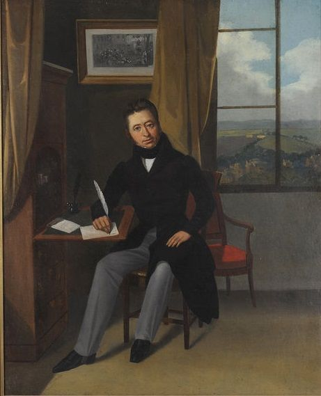 French school circa 1830 portrait d homme dans un int rieur for Interieur french