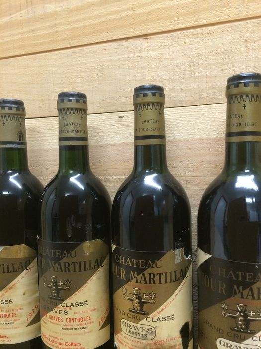 ch teau latour martillac grand cru classe de graves pessac l ognan 1979 2 bottles 1981 2. Black Bedroom Furniture Sets. Home Design Ideas