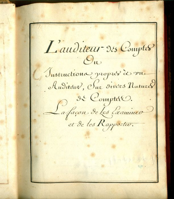 manuscript l 39 auditeur des comptes c 1750 catawiki. Black Bedroom Furniture Sets. Home Design Ideas