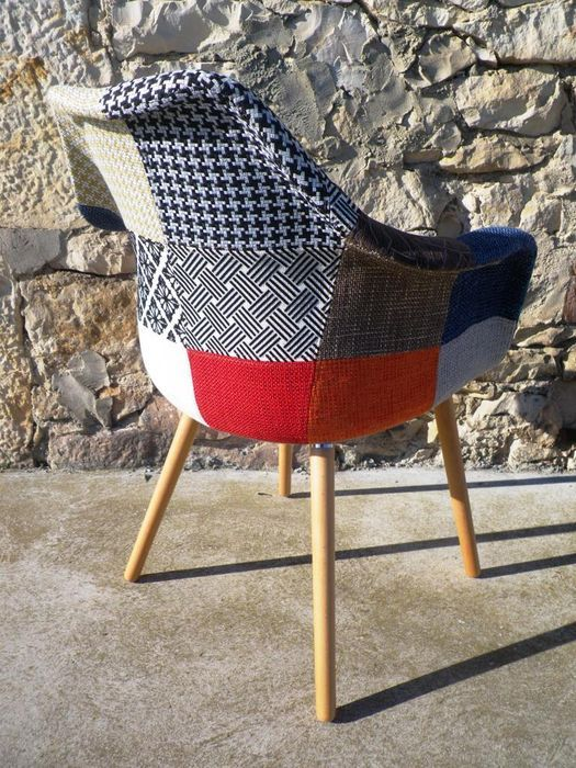 Anssen patchwork chaise catawiki - Chaise anders patchwork ...