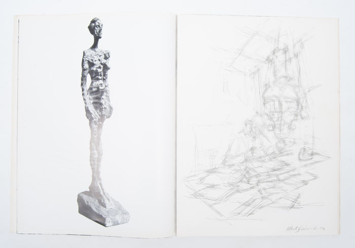 Derri re le miroir lot with 2 publications of giacometti for Derriere le miroir giacometti