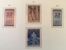 Vatican 1951 - Selection of stamps - Michel 178/179 and 185/186