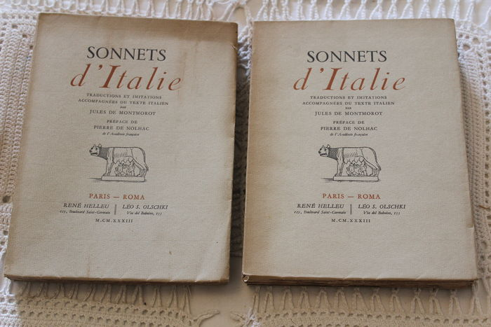 sonnets d italie deux tomes 1933. Black Bedroom Furniture Sets. Home Design Ideas