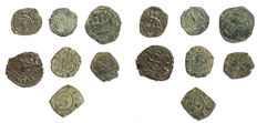 Suevians and Aragons - Lot of 7 coins XIII century