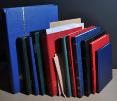 World - Batch in large and small stock books and envelopes