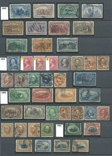 United States 1893/1928 - Collection on stock pages