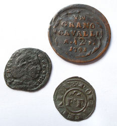 Aquila, Messina and Naples - Lot of 3 coins