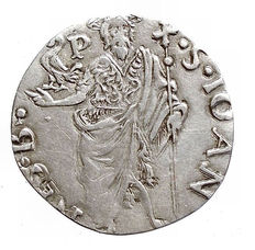 Florence, Republic - Grosso 1485 II half year with Cappone coat of arms - silver